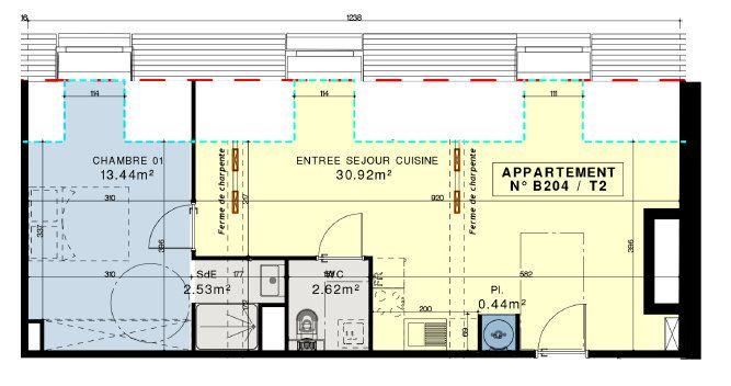 Appartement à vendre 2 49.95m2 à Compiègne vignette-6