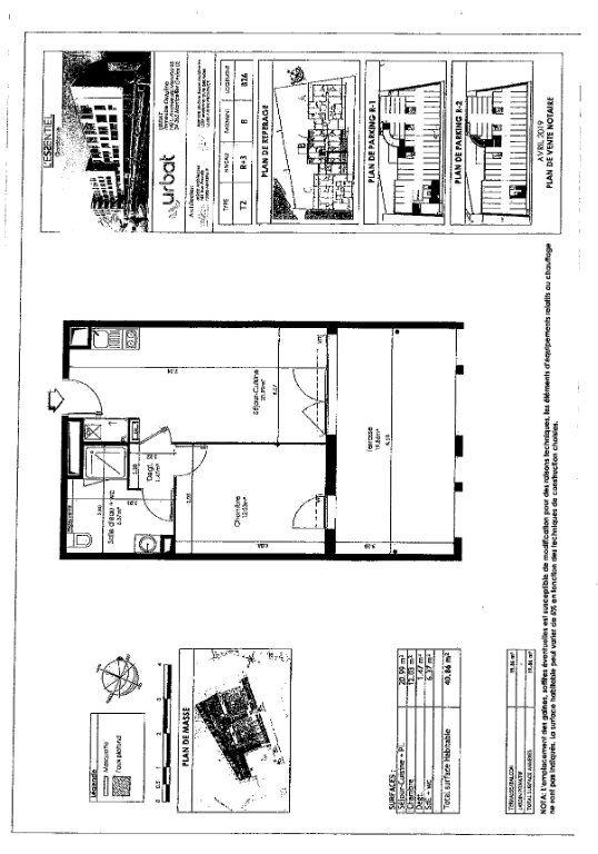 Appartement à louer 40.86m2 à Gardanne