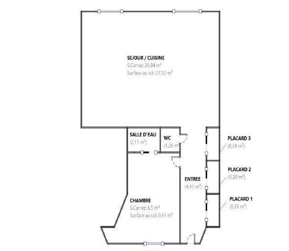 Appartement à louer 2 45.93m2 à Paris 1 vignette-6