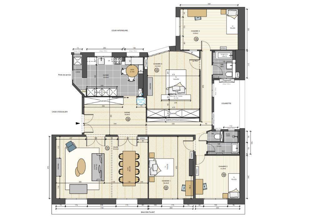 Appartement à louer 6 156m2 à Paris 8 vignette-17