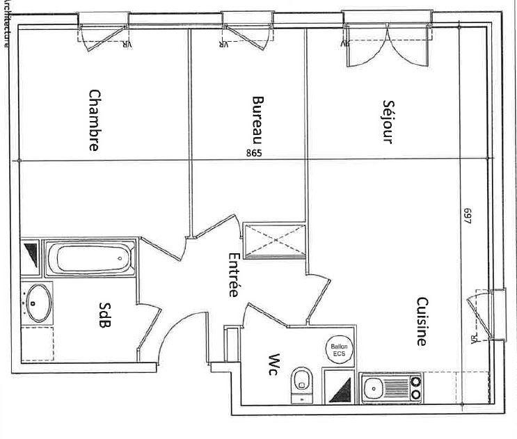 Appartement à vendre 3 54.46m2 à Beauvais vignette-2