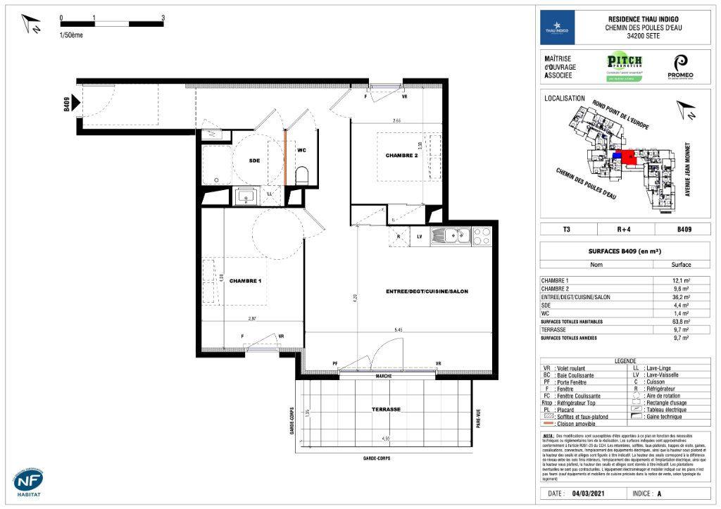 Appartement à vendre 3 63.8m2 à Sète vignette-2
