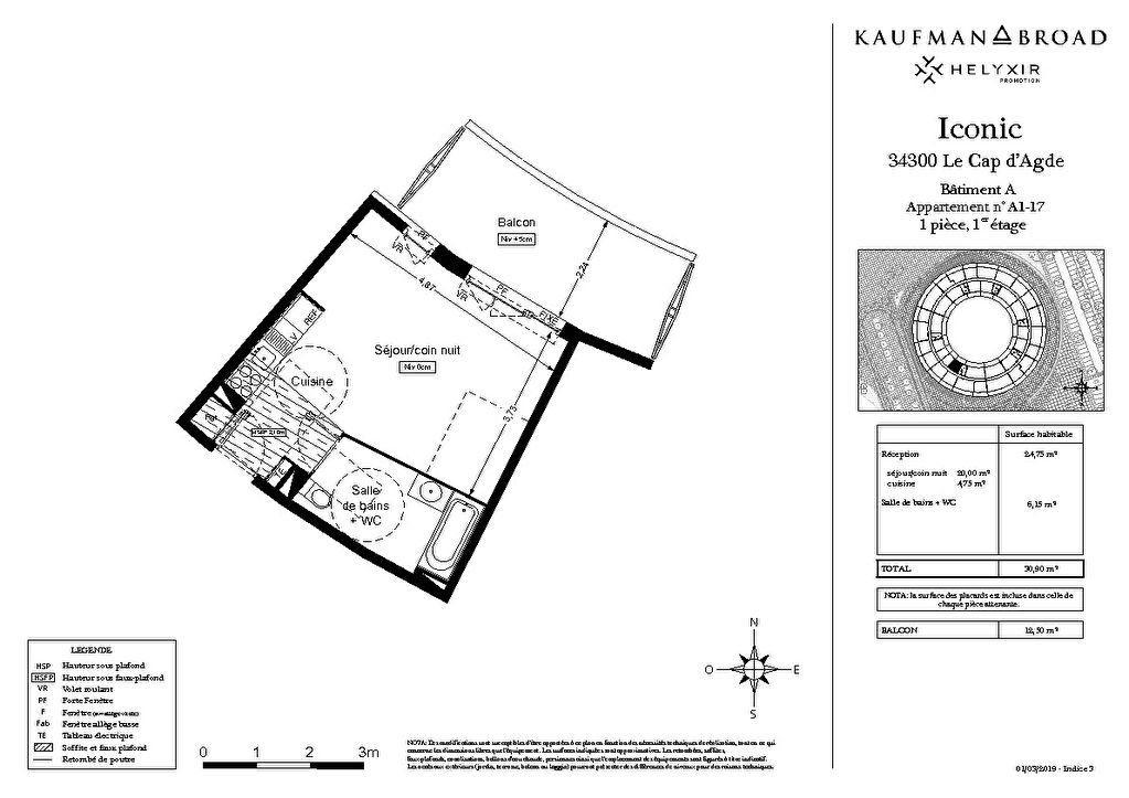 Appartement à vendre 1 30m2 à Le Cap d'Agde - Agde vignette-3