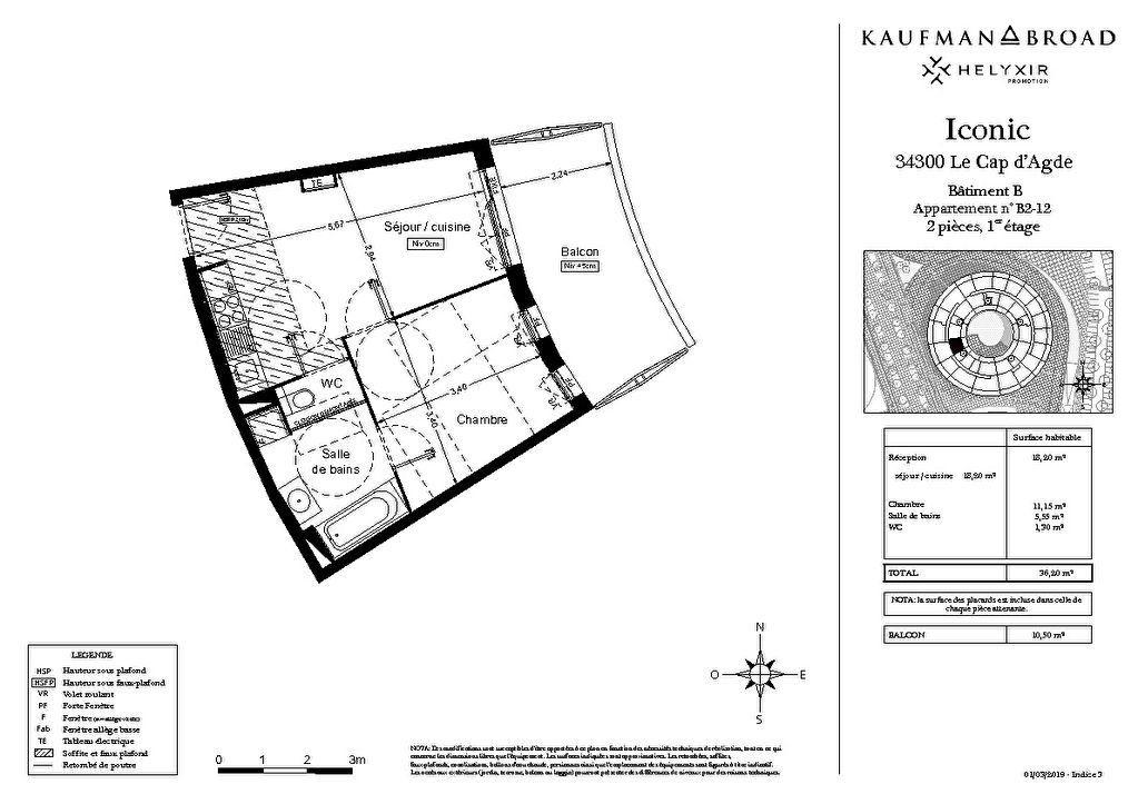 Appartement à vendre 2 36m2 à Le Cap d'Agde - Agde vignette-2