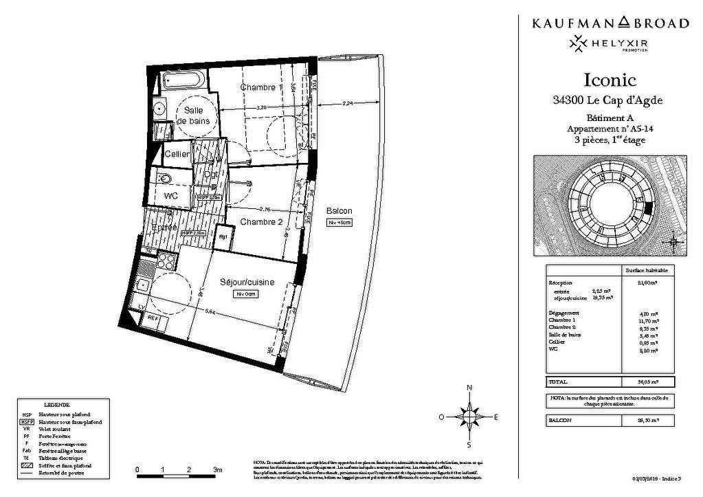 Appartement à vendre 3 56m2 à Le Cap d'Agde - Agde vignette-4