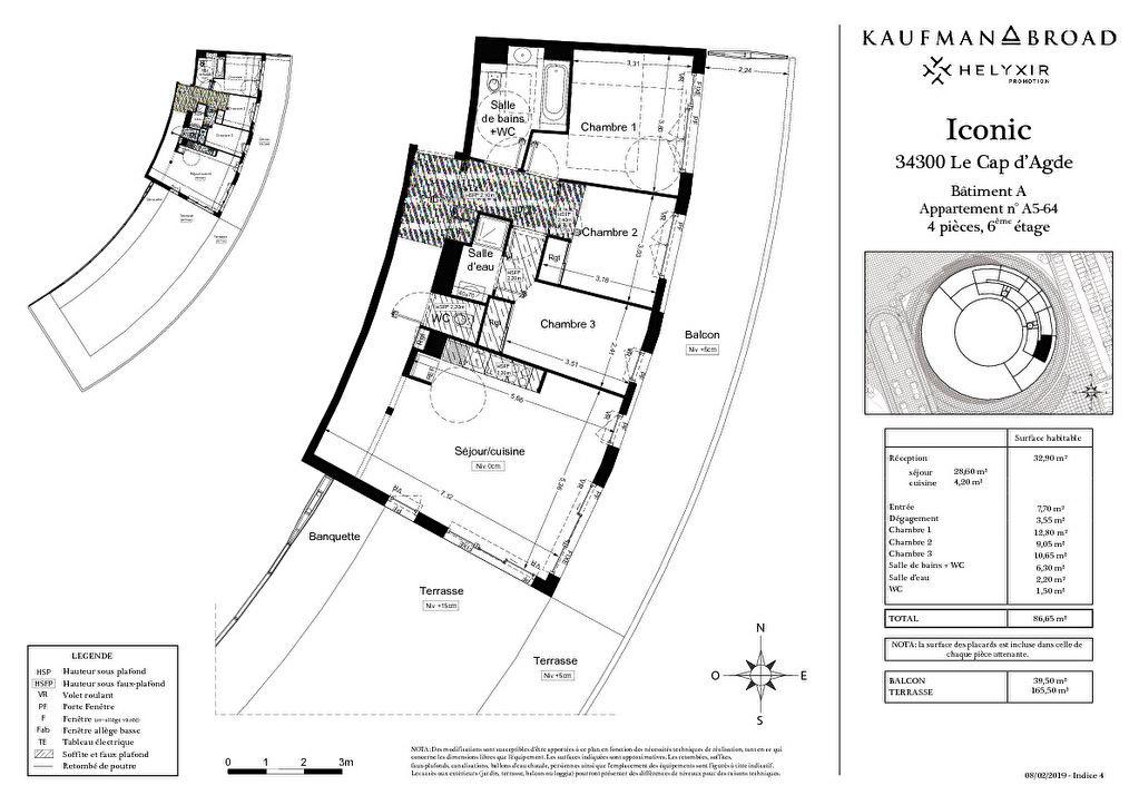 Appartement à vendre 4 86m2 à Le Cap d'Agde - Agde vignette-6