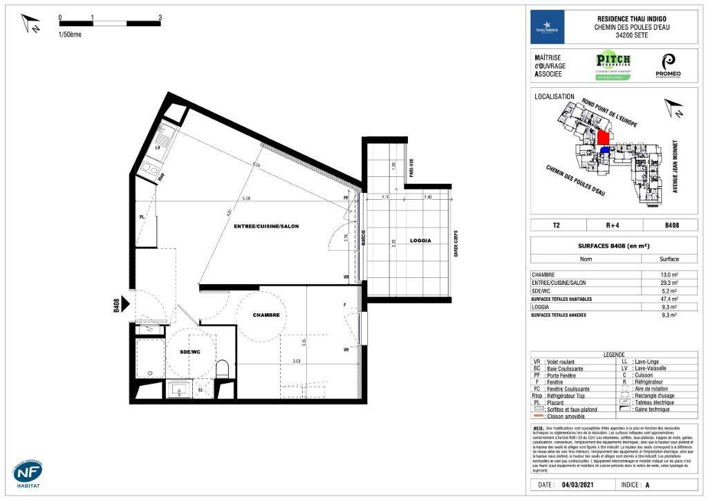 Appartement à vendre 2 47.4m2 à Sète vignette-1