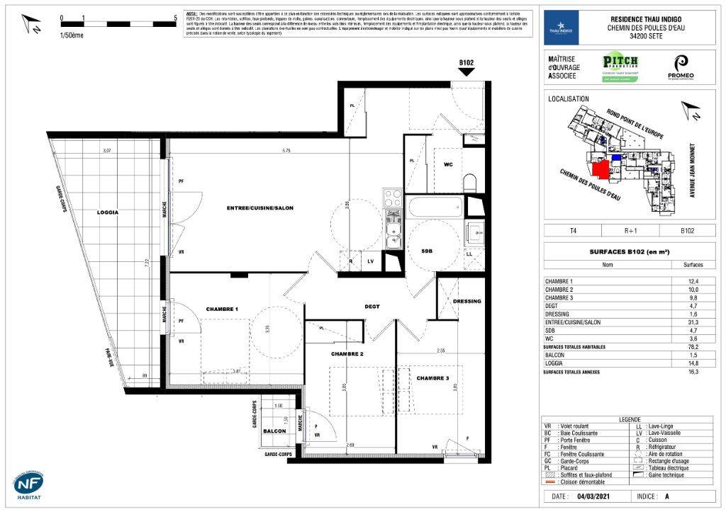 Appartement à vendre 4 78.2m2 à Sète vignette-1