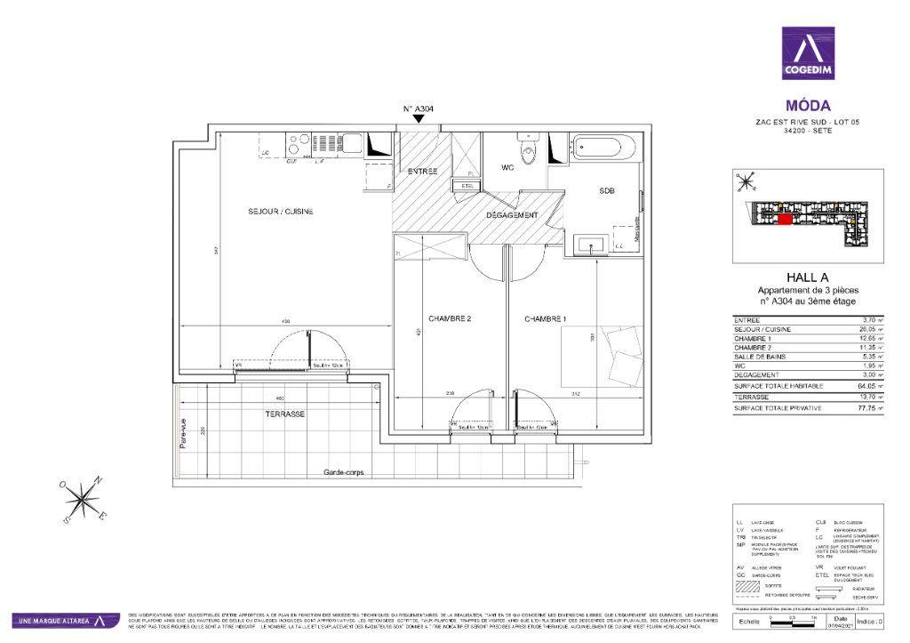 Appartement à vendre 3 64m2 à Sète vignette-1