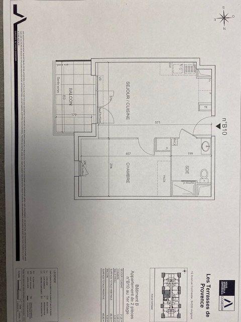 Appartement à louer 2 39.3m2 à Avignon vignette-2