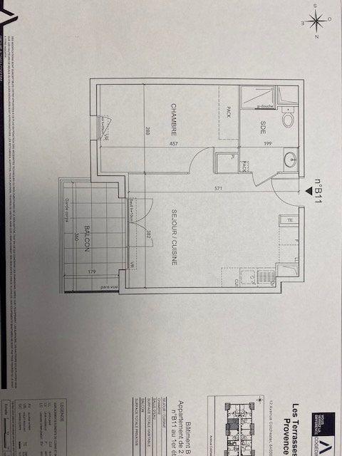Appartement à louer 2 39.2m2 à Avignon vignette-2