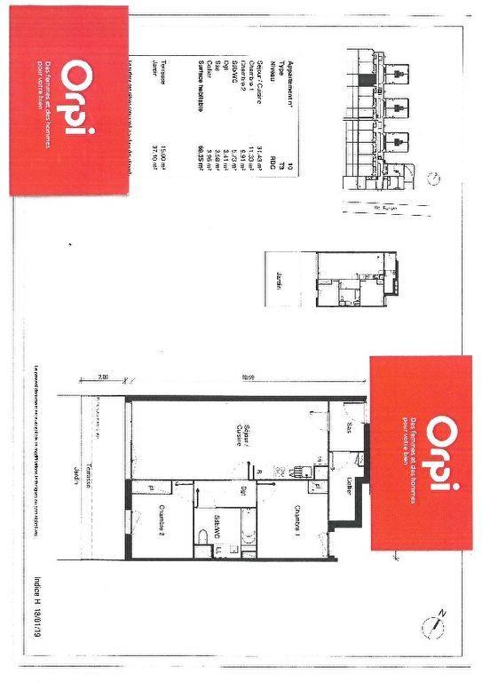 Appartement à vendre 3 69.35m2 à Blagnac plan-1