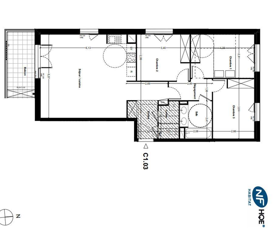 Appartement à vendre 4 80.95m2 à Toulouse vignette-3