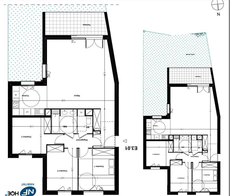 Appartement à vendre 4 89.57m2 à Toulouse vignette-3