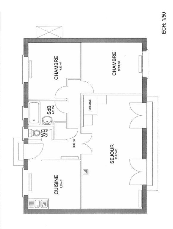 Maison à vendre 3 63m2 à Thoiré-sous-Contensor plan-1