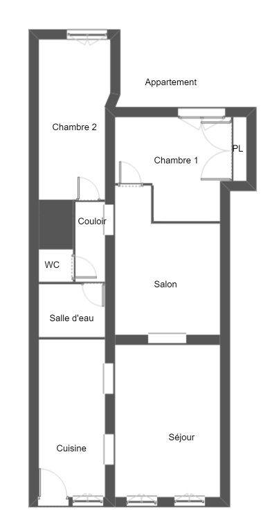 Appartement à vendre 3 60m2 à La Ferté-Bernard vignette-3