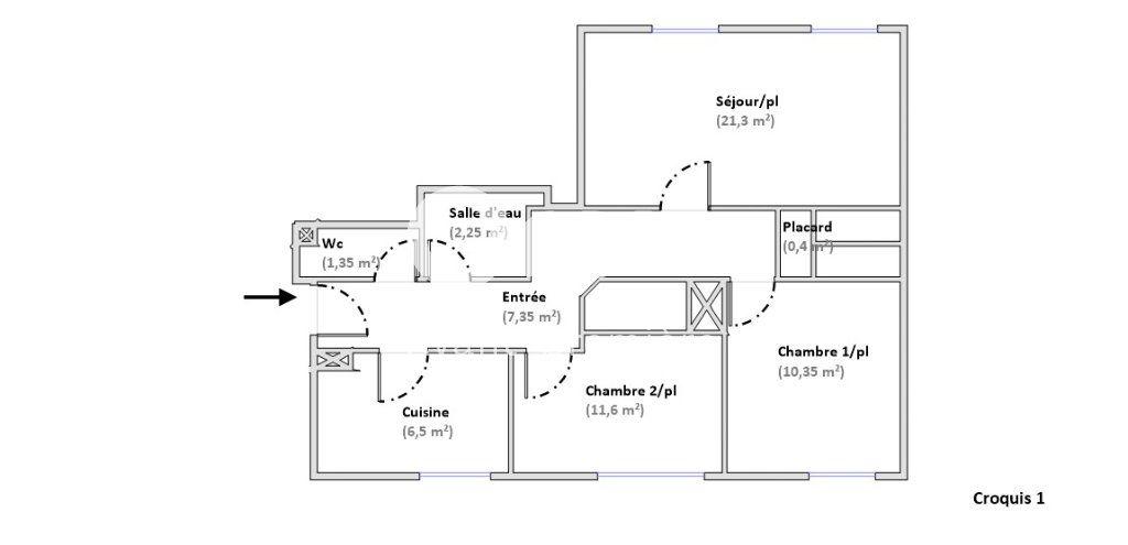 Appartement à vendre 3 61.1m2 à Paris 15 vignette-7