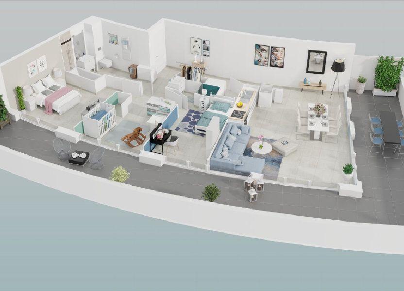 Appartement à vendre 87.55m2 à Le Cap d'Agde - Agde
