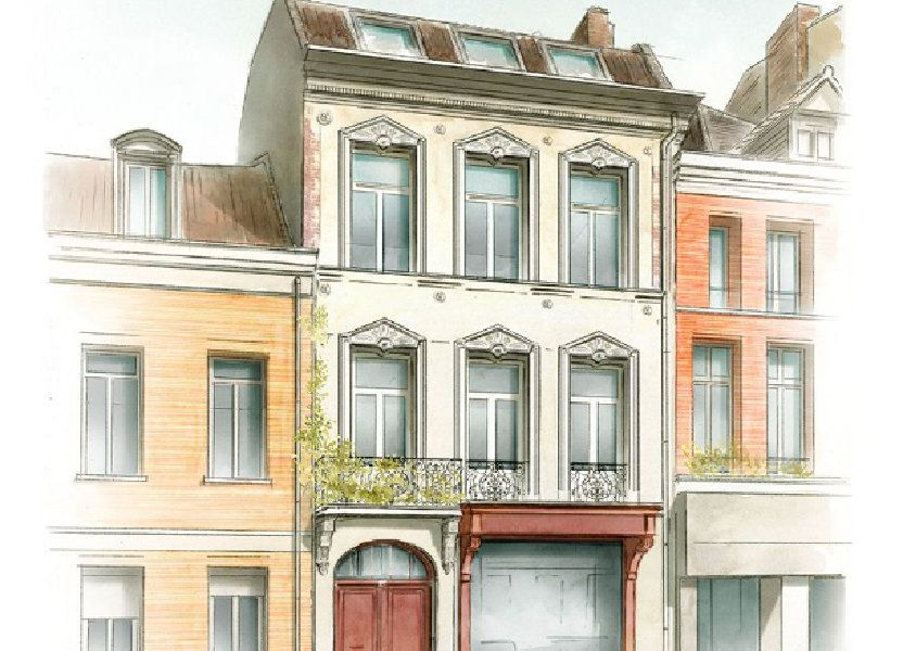 Appartement à vendre 73.3m2 à Lille