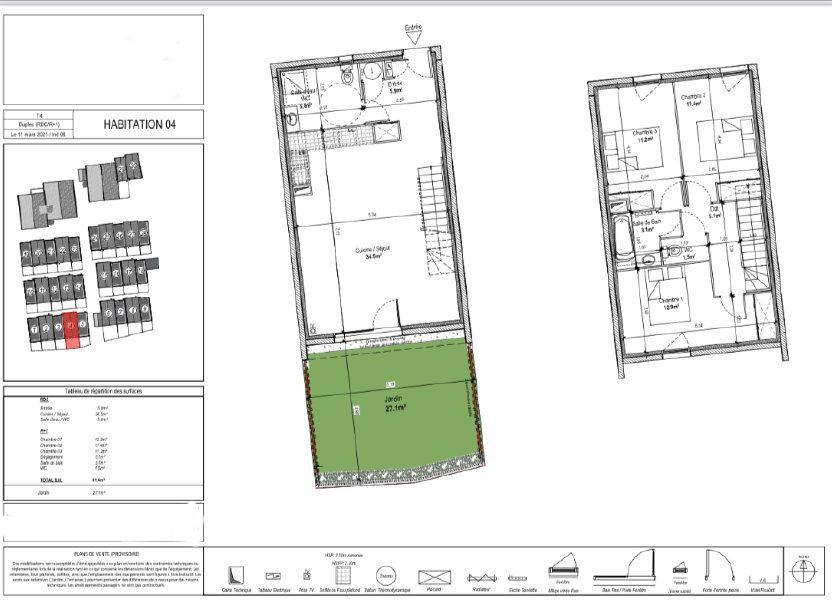 Maison à vendre 94.04m2 à Marguerittes