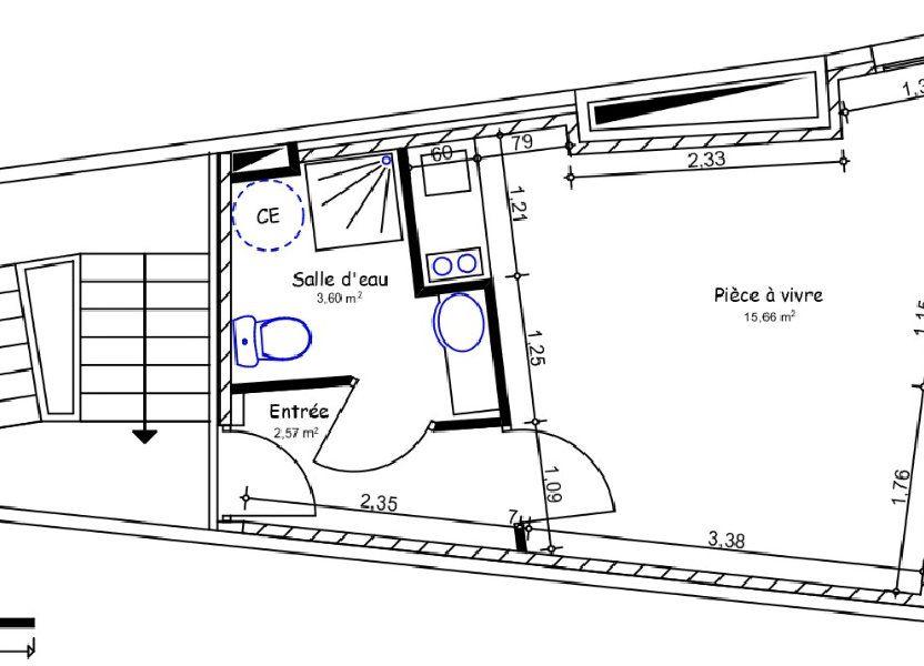Appartement à louer 21.83m2 à Limoges