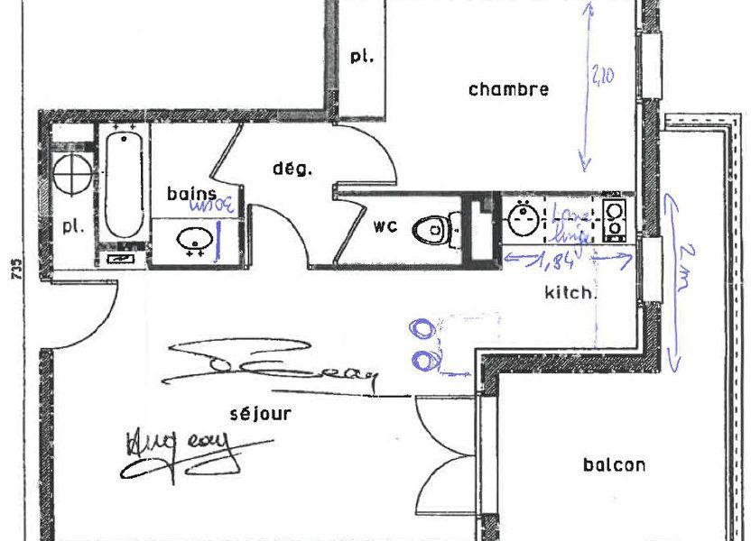 Appartement à louer 44.27m2 à Castelginest