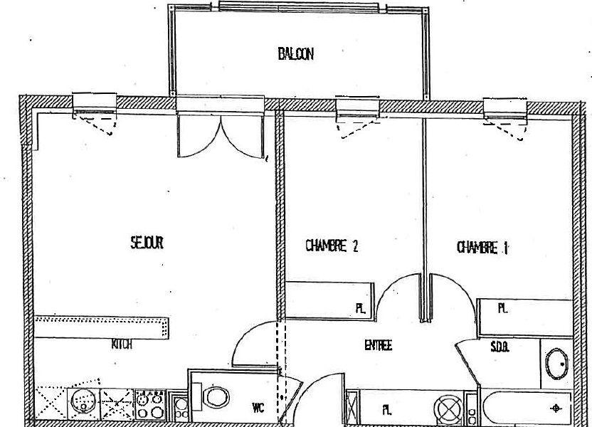 Appartement à vendre 52.8m2 à Castelginest