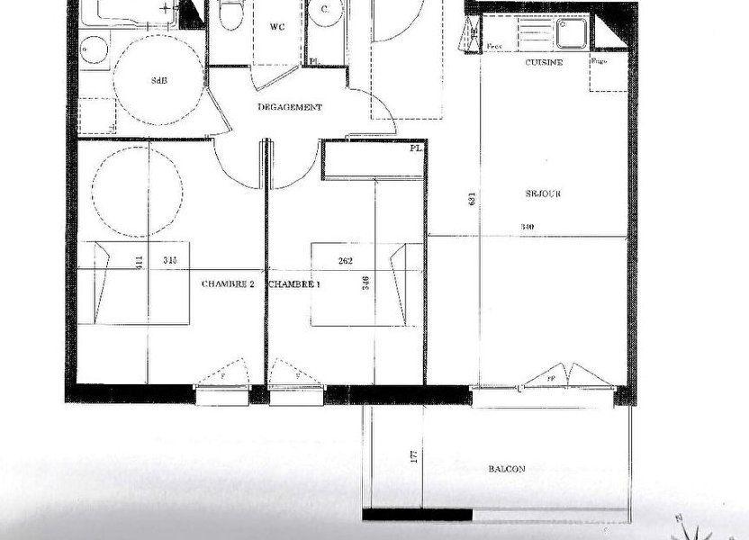 Appartement à vendre 59m2 à Launaguet
