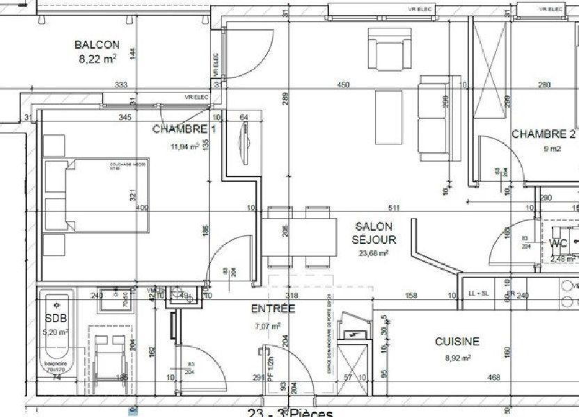 Appartement à louer 68m2 à Horbourg-Wihr