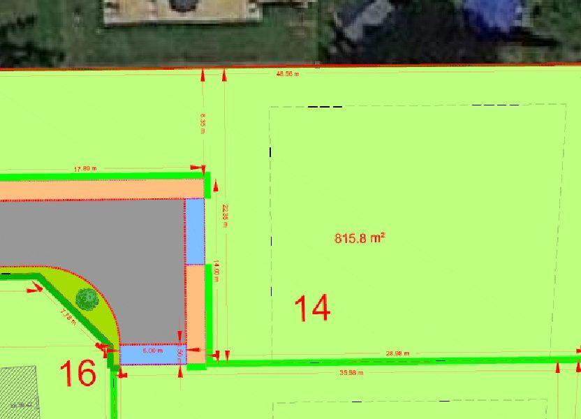 Terrain à vendre 815.8m2 à Bersée