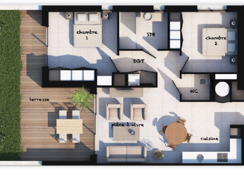 Appartement à vendre 70.32m2 à Lecci