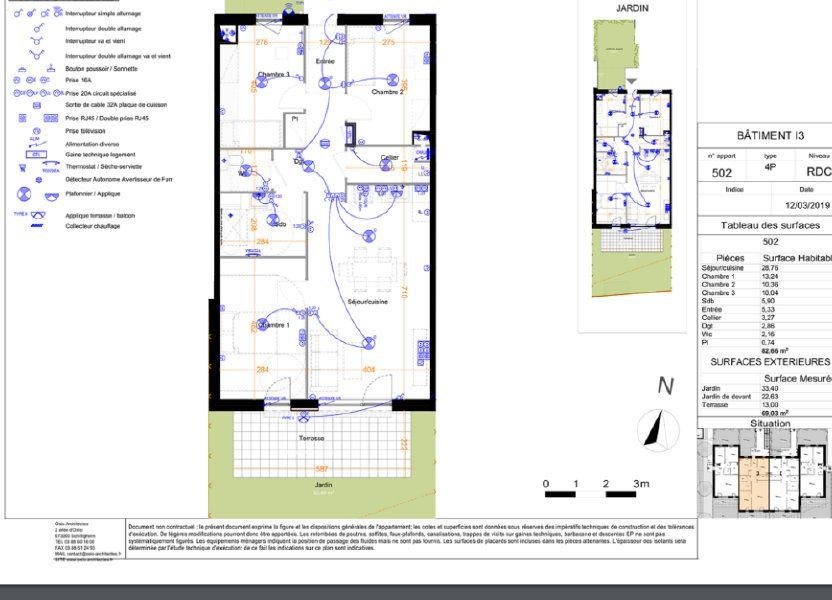 Appartement à louer 82.66m2 à Mundolsheim