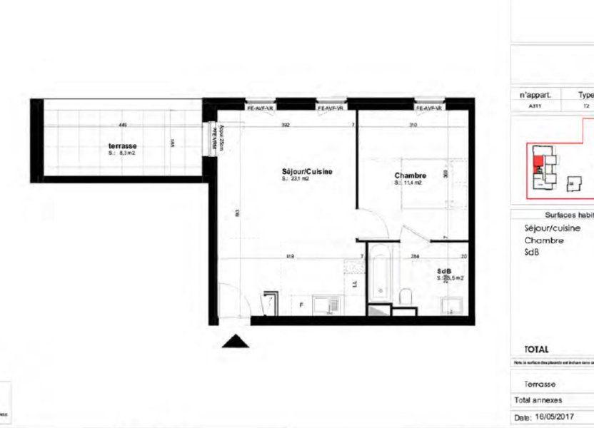 Appartement à louer 40m2 à Brumath
