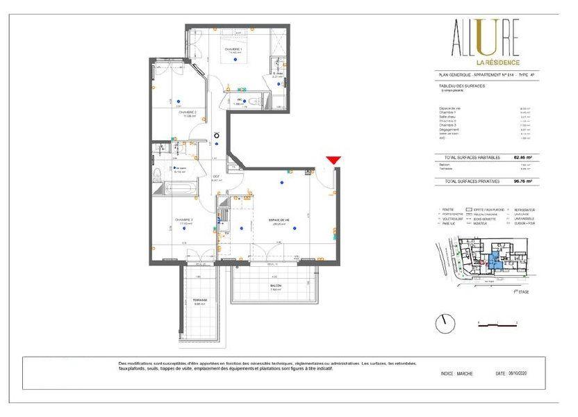 Appartement à vendre 82.46m2 à Antony