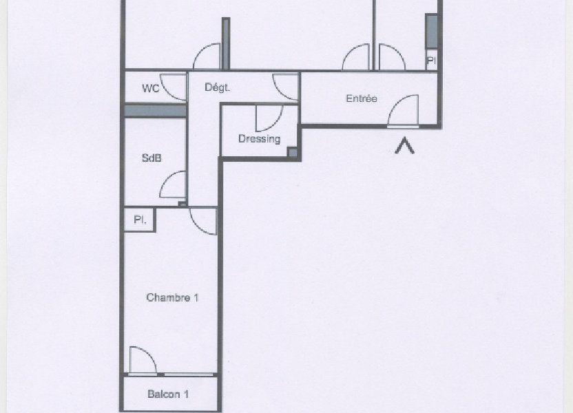 Appartement à vendre 74.48m2 à Paris 20
