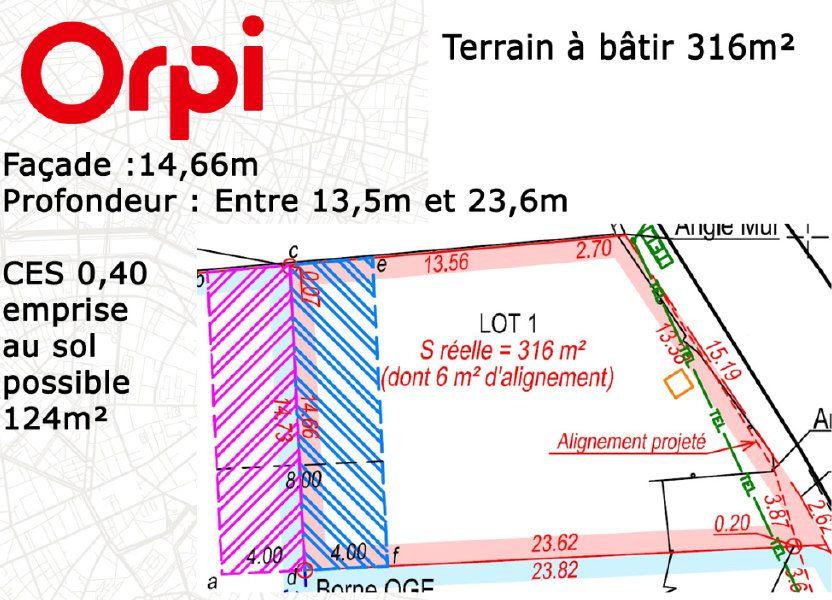 Terrain à vendre 316m2 à Soisy-sur-École