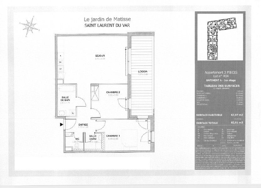 Appartement à louer 68m2 à Saint-Laurent-du-Var