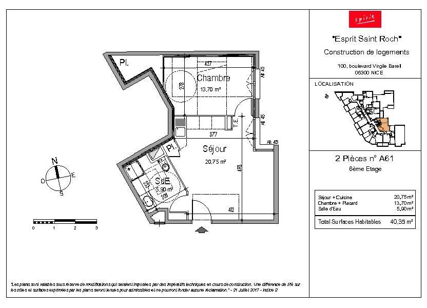 Appartement à vendre 40.35m2 à Nice