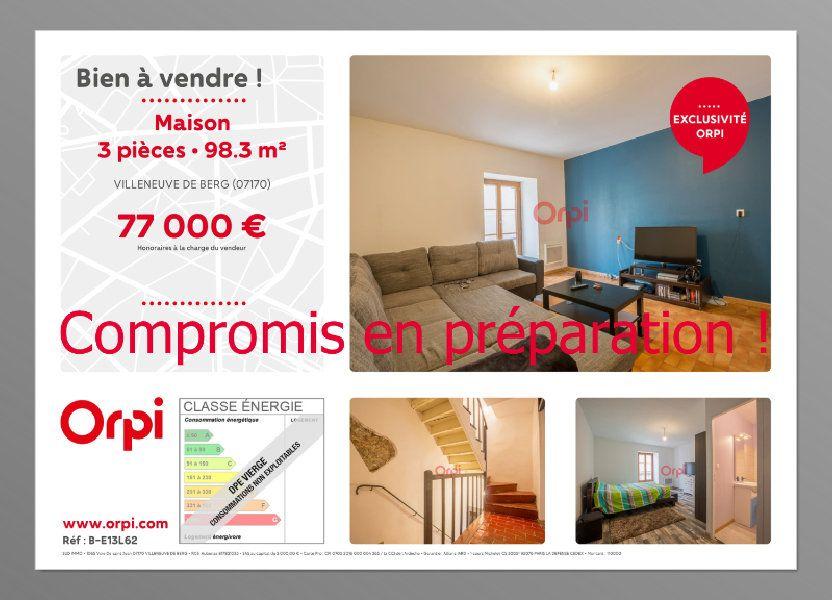 Maison à vendre 98.3m2 à Villeneuve-de-Berg