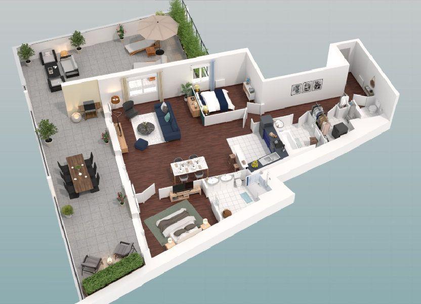 Appartement à vendre 108m2 à Lille