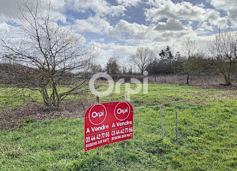 Terrain à vendre 940m2 à Canny-sur-Matz