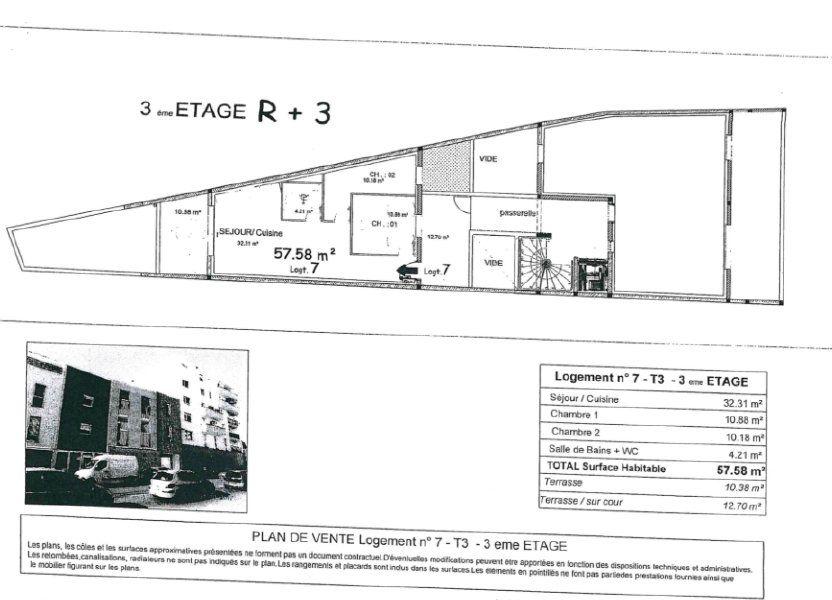Appartement à vendre 57.58m2 à Nîmes