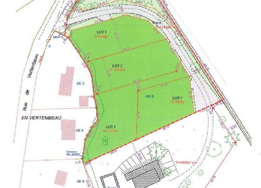Terrain à vendre 1032m2 à Châtenoy-en-Bresse