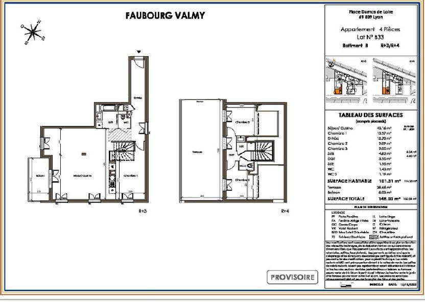 Appartement à vendre 101m2 à Lyon 9