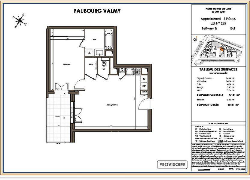 Appartement à vendre 47.81m2 à Lyon 9