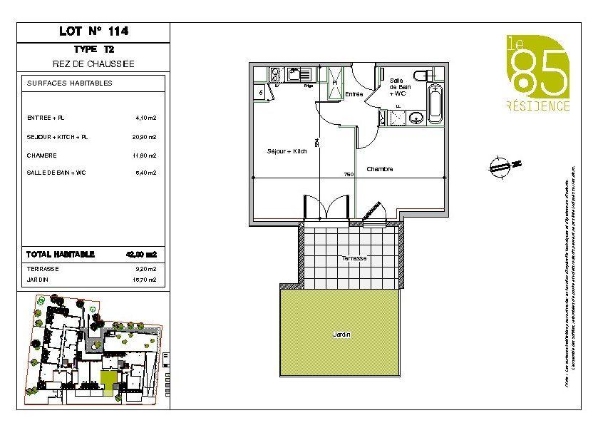 Appartement à louer 42m2 à Toulouse