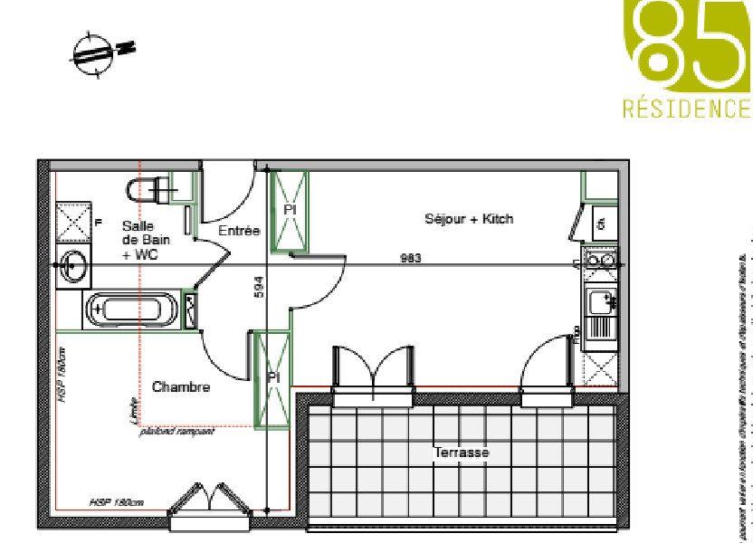 Appartement à louer 44.5m2 à Toulouse