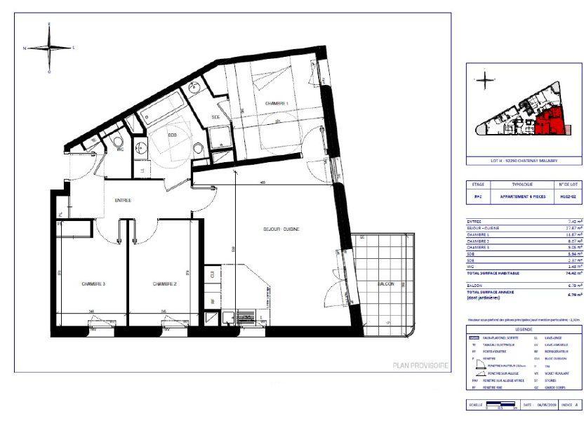 Appartement à vendre 74.42m2 à Châtenay-Malabry