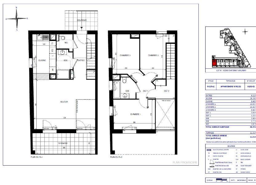Appartement à vendre 88.25m2 à Châtenay-Malabry