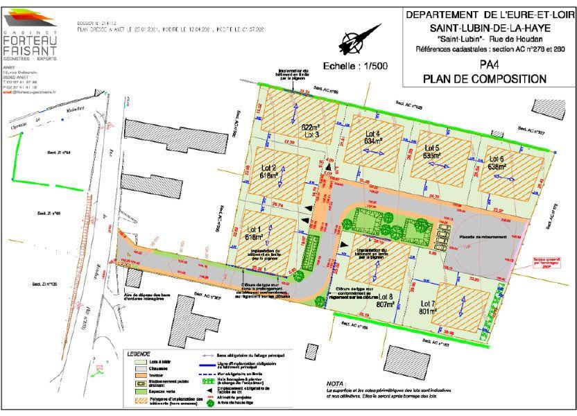 Terrain à vendre 622m2 à Saint-Lubin-de-la-Haye